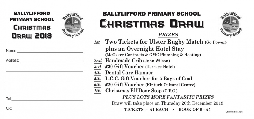 BALLYLIFFORD PS CHRISTMAS DRAW